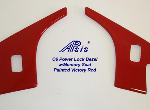 C6 Corvette 05-13, Painted Power Lock Bezel (Overlay)
