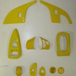 C6 Corvette 05-13, Painted Push Button Door Opener (Overlay) 9