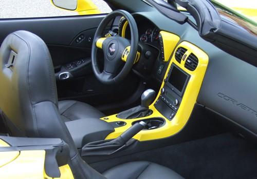 C6 Corvette 05-13, Painted Speedo Corners (Overlay) 1