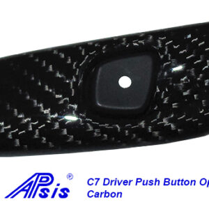 C7 14-UP Lamination Black Carbon Driver Push Button Opener (Core Exchange)  (Starting from $188.00 + Refundable Core Charge $95.00) (High Gloss or Matte Finish)