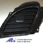 C7 14-UP Lamination Black Carbon Center Right Air Vent (Core Exchange)  (Starting from $198.00 + Refundable Core Charge $70