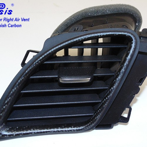 C7 14-UP Lamination Black Carbon Center Right Air Vent (Core Exchange)  (Starting from $198.00 + Refundable Core Charge $70.00) (High Gloss or Matte Finish)