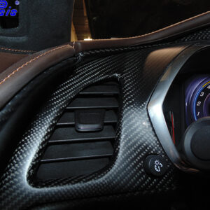 C7 14-UP Lamination Black Carbon Left of Instrument Cluster Vertical Panel, Upper (Core Exchange)  (Starting from $188.00 + Refundable Core Charge $50.00) (High Gloss or Matte Finish)