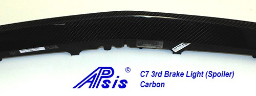 C7 14-UP Lamination Black Carbon 3rd Brake Light (Spoiler) (Core Exchange)  (Starting from $298.00 + Refundable Core Charge $150.00) (High Gloss or Matte Finish)
