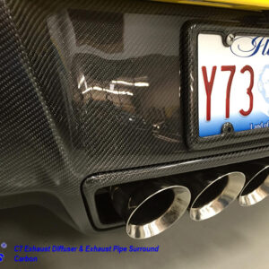 C7 14-UP Lamination Black Carbon Exhaust Pipe Surround (Core Exchange)  (Starting from $398.00 + Refundable Core Charge $275.00) (High Gloss or Matte Finish)