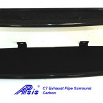 C7 14-UP Lamination Black Carbon Exhaust Pipe Surround (Core Exchange)  (Starting from $398.00 + Refundable Core Charge $275