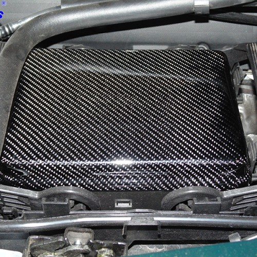 C7 14-UP Lamination Black Carbon Fuse Box Cover (Overlay)  (High Gloss or Matte Finish)