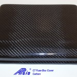 C7 14-UP Lamination Black Carbon Fuse Box Cover (Overlay)  (High Gloss or Matte Finish)  3