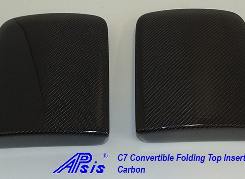 C7 14-UP Lamination Black Carbon Convertible Folding Top Insert, 2 pcs/set (Core Exchange)  (Starting from $698.00 + Refundable Core Charge $100.00)  (High Gloss or Matte Finish)