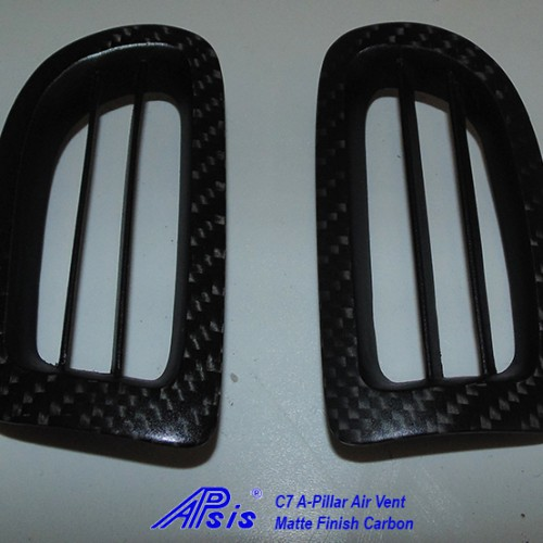 C7 14-UP Lamination Black Carbon A-Pillar Air Vent, 2 pcs/set (Starting from $288.00 + Refundable Core Charge $100.00) (High Gloss or Matte Finish)