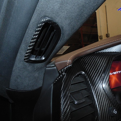 C7 14-UP Lamination Black Carbon A-Pillar Air Vent, 2 pcs/set (Starting from $288.00 + Refundable Core Charge $100