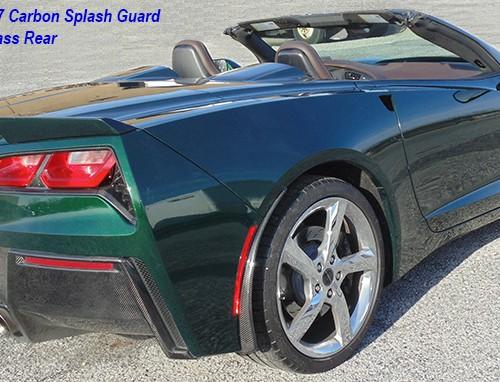 C7 15-UP Rear Splash Guard, 2 pcs/set, Matte Black (Carbon Flash, High Gloss Carbon or Matte Finish Carbon)