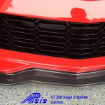 C7 Z06 15-UP, Replica Stage 2 Front Splitter Wiinglets Only, 2 pcs/set, Matte Black (Carbon Flash, High Gloss Carbon or Matte Finish Carbon)  3