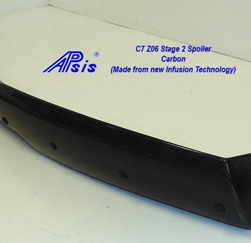 C7 Z06 15-UP, Replica Stage 2 Spoiler Side Pc Only, 2 pcs/set, Matte Black (Carbon Flash, High Gloss Carbon or Matte Finish Carbon)