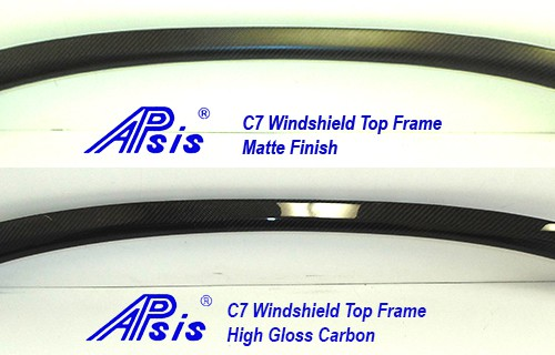 C7 14-UP Lamination Black Carbon Convertible Windshield Top Frame (Core Require) (Starting from $768.00) (High Gloss or Matte Finish)