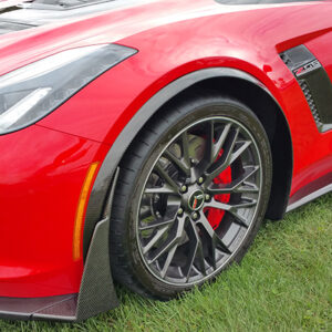 C7 Z06 15-UP Intergrated Front Spat/Splash Guard with or without Side Skirt, Matte Black (Carbon Flash, High Gloss Carbon or Matte Finish Carbon)