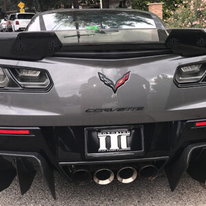 C7 Z06 15-UP, Replica Stage 2 Spoiler, 3 pcs/set, Matte Black (Carbon Flash, High Gloss Carbon or Matte Finish Carbon), Starting from $698.00