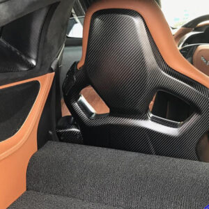 C7 14-UP Lamination Black Carbon GT Seat Back Panel or Competition Seat Back Panel, 2 pcs/set  ($2888.00 + Refundable Core Charge $500.00) (High Gloss or Matte Finish)